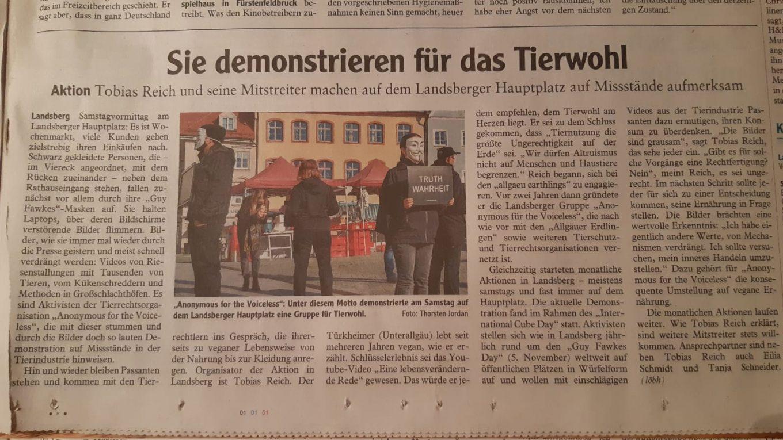 Landsberger Tagblatt Artikel über ICS2020 AV-LL
